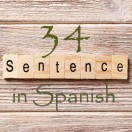 Learn 4500 Spanish sentences used in daily life Part 34 of 50