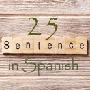 Learn 4500 Spanish sentences used in daily life Part 25 of 50