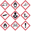 Gefahrensymbole der Chemie